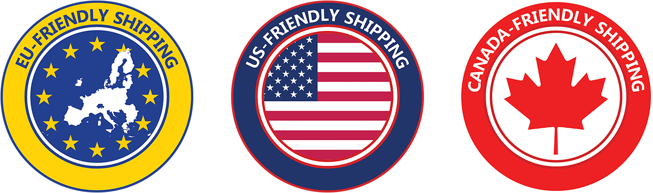 EU, US, and Canada friendly shipping
